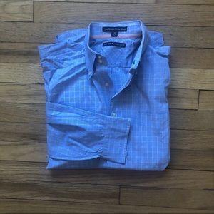 VTG Tommy Hilfiger Blue Plaid Shirt L